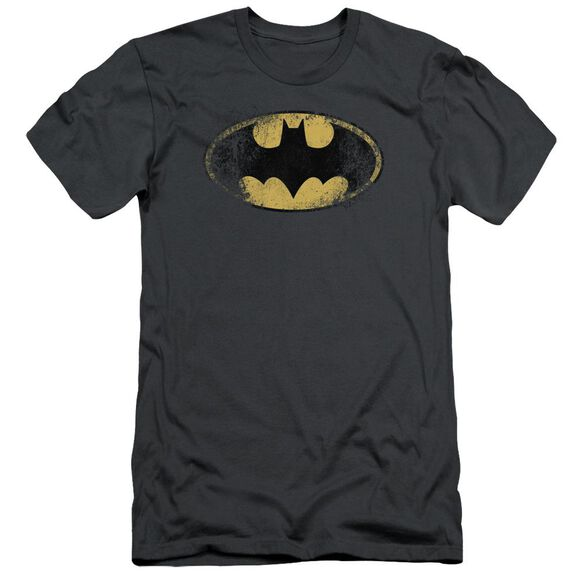 Batman Destroyed Logo Short Sleeve Adult T-Shirt