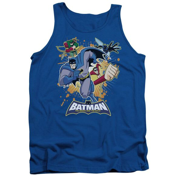 Batman Bb Burst Into Action Adult Tank Royal