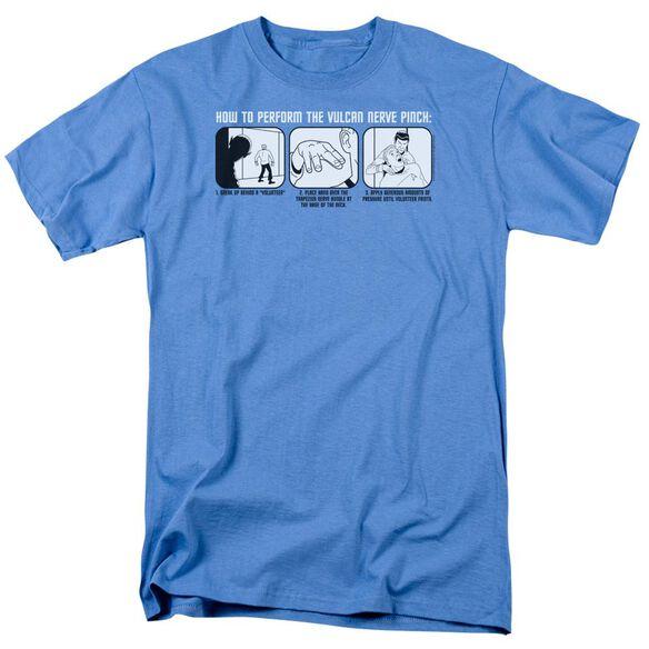 ST:ORIGINAL VULCAN NERVE PINCH - S/S ADULT 18/1 - CAROLINA BLUE T-Shirt