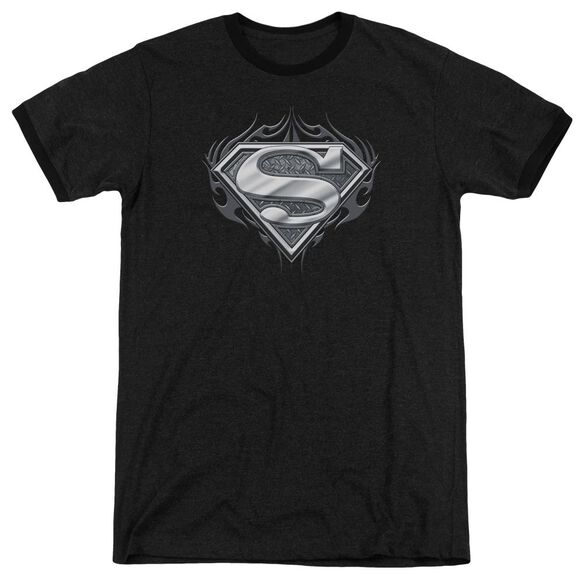 Superman Biker Metal Adult Heather Ringer