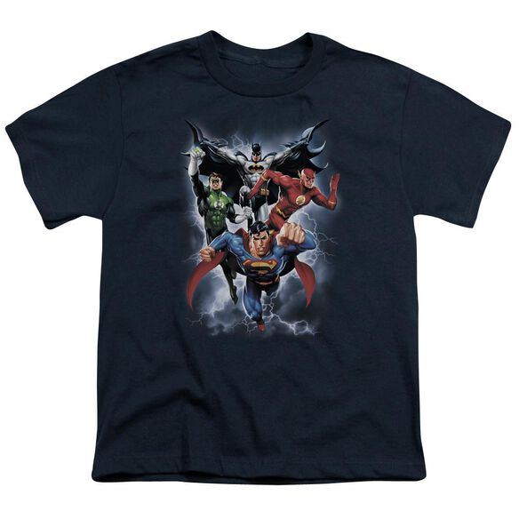 Jla The Coming Storm Short Sleeve Youth T-Shirt