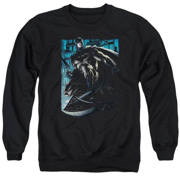 Batman Knight Falls In Gotham Adult Crewneck Sweatshirt