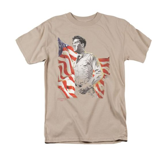 Elvis Freedom Short Sleeve Adult Sand T-Shirt