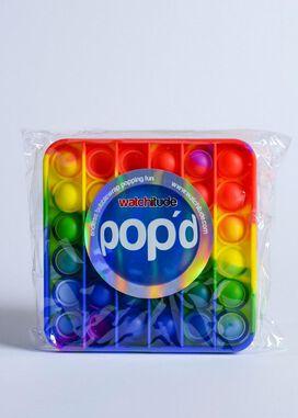 Watchitude Pop'd Rainbow Square Push Pop Bubble Sensory Fidget Toy