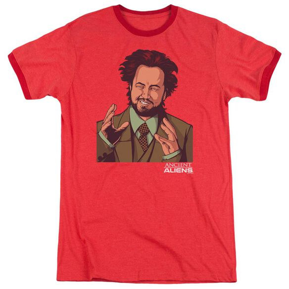 Ancient Aliens It Must Be Aliens Adult Ringer Red