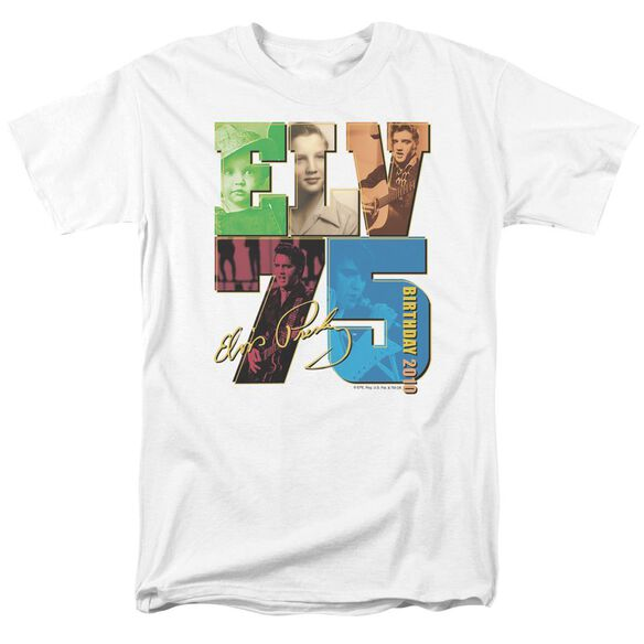 Elvis Birthday 2010 Short Sleeve Adult White T-Shirt