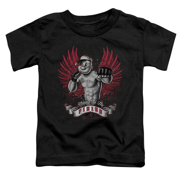 Popeye Undefeated Short Sleeve Toddler Tee Black Sm T-Shirt