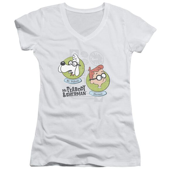 Mr Peabody & Sherman Gadgets Junior V Neck T-Shirt