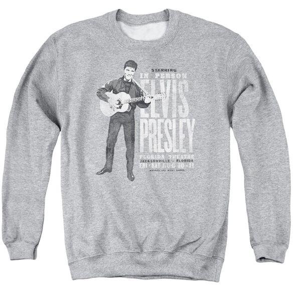 Elvis Presley In Person - Adult Crewneck Sweatshirt - Athletic Heather