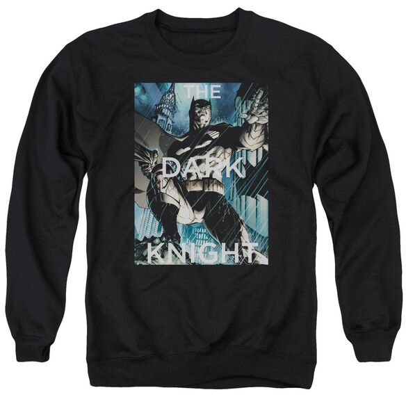 Batman Fighting The Storm Adult Crewneck Sweatshirt