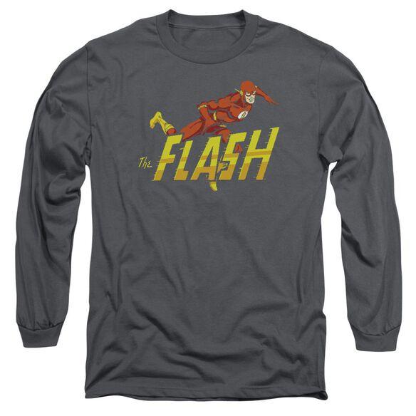 Dc 8 Bit Flash Long Sleeve Adult T-Shirt