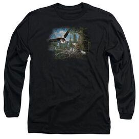 Wildlife Spring Bald Eagles Long Sleeve Adult T-Shirt