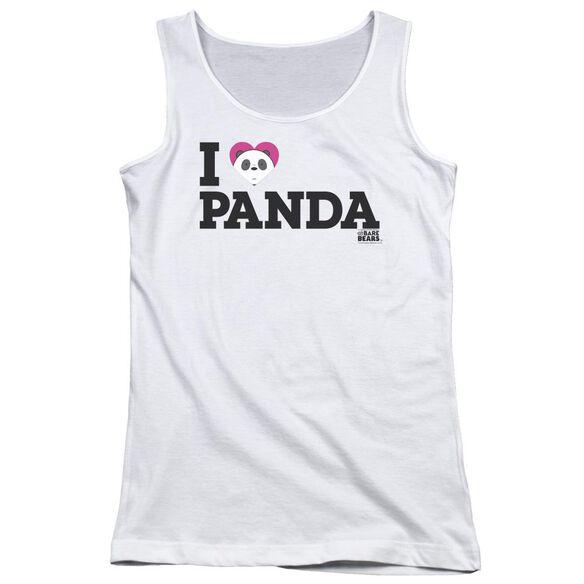 We Bare Bears Heart Panda Juniors Tank Top