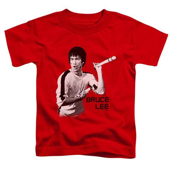 Bruce Lee Nunchucks Short Sleeve Toddler Tee Red T-Shirt