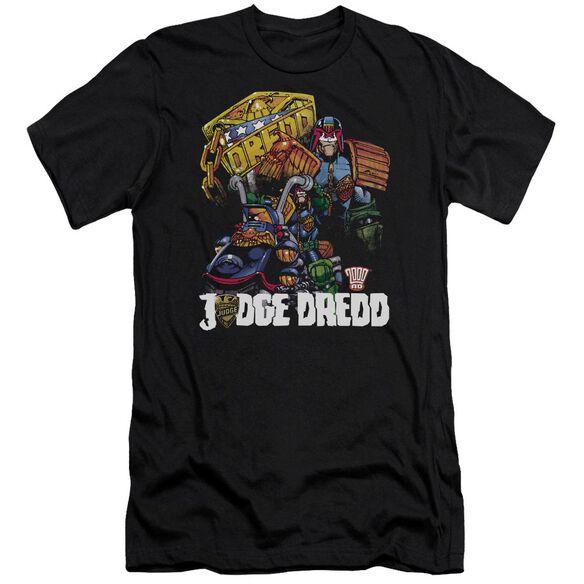Judge Dredd Bike And Badge Premuim Canvas Adult Slim Fit