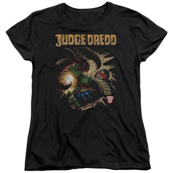Judge Dredd Blast Away Short Sleeve Womens Tee T-Shirt