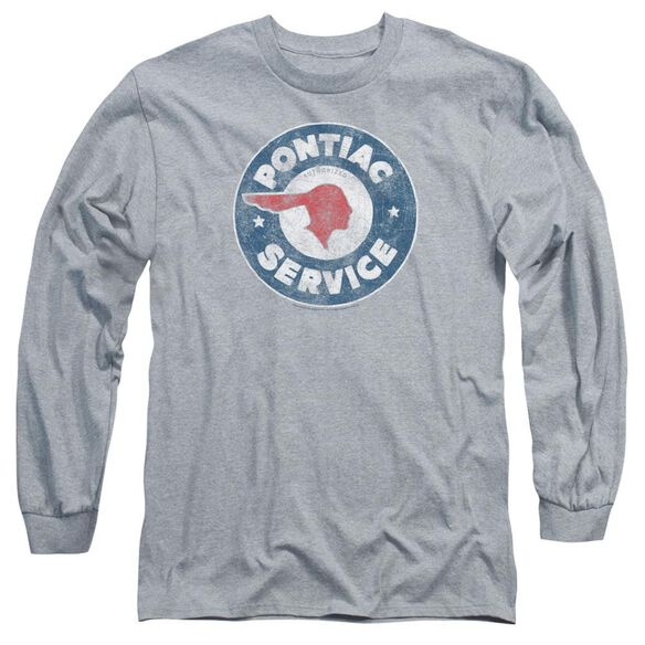 Pontiac Vintage Pontiac Service Long Sleeve Adult Athletic T-Shirt