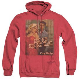Cry Baby Kiss Me - Adult Heather Hoodie - Red