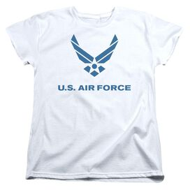 Air Force Distressed Logo Short Sleeve Womens Tee T-Shirt