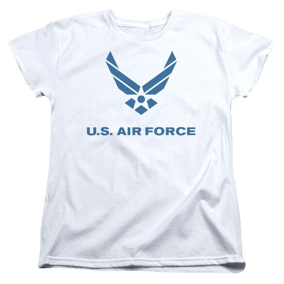 Air Force Distressed Logo Short Sleeve Womens Tee T-Shirt