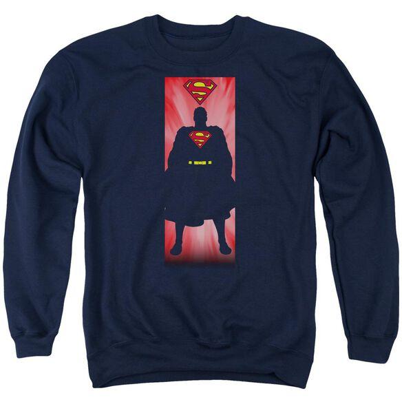 Superman Block Adult Crewneck Sweatshirt