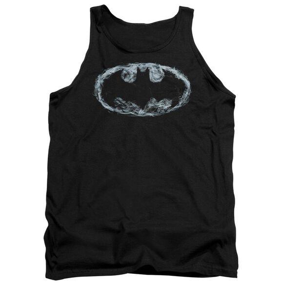 Batman Smoke Signal - Adult Tank - Black