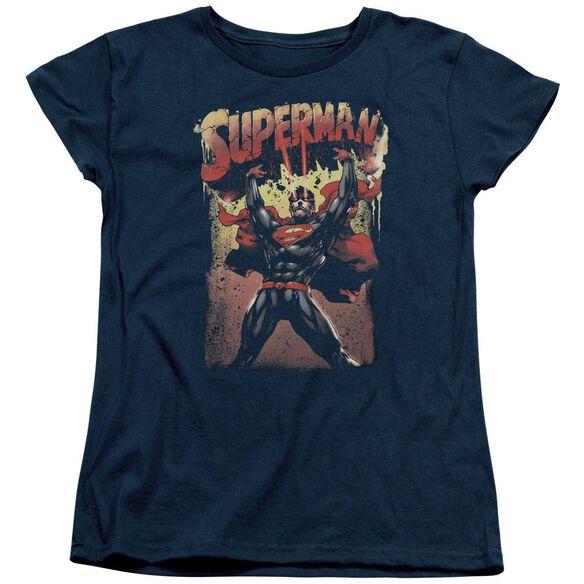 Superman Lift Up Short Sleeve Womens Tee T-Shirt