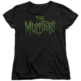 THE MUNSTERS DISTRESS LOGO - S/S WOMENS TEE T-Shirt