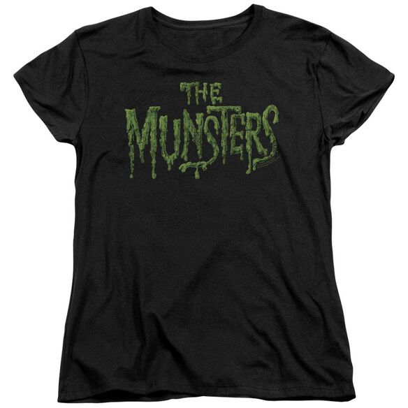 The Munsters Distress Logo Short Sleeve Womens Tee T-Shirt