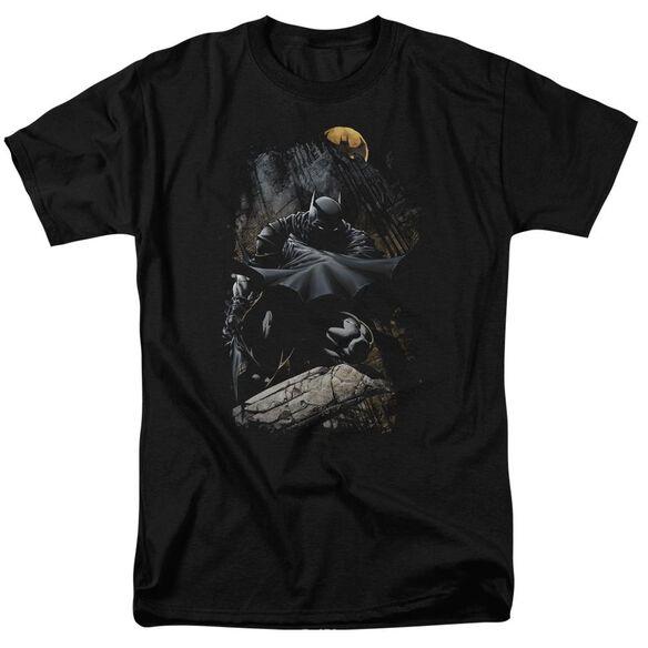 Batman Sweeping Cape Short Sleeve Adult T-Shirt