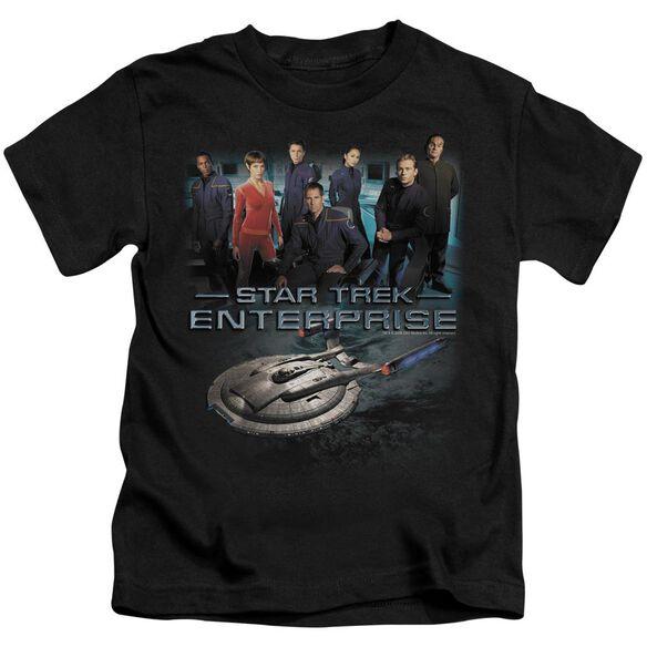 Star Trek Enterprise Crew Short Sleeve Juvenile Black T-Shirt