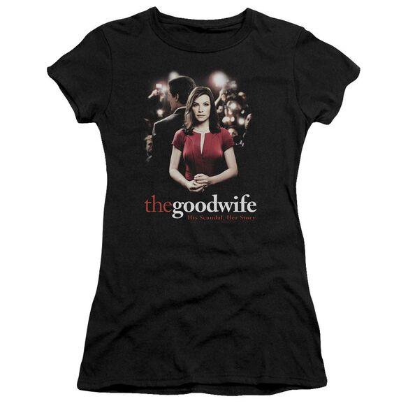 The Good Wife Bad Press Short Sleeve Junior Sheer T-Shirt