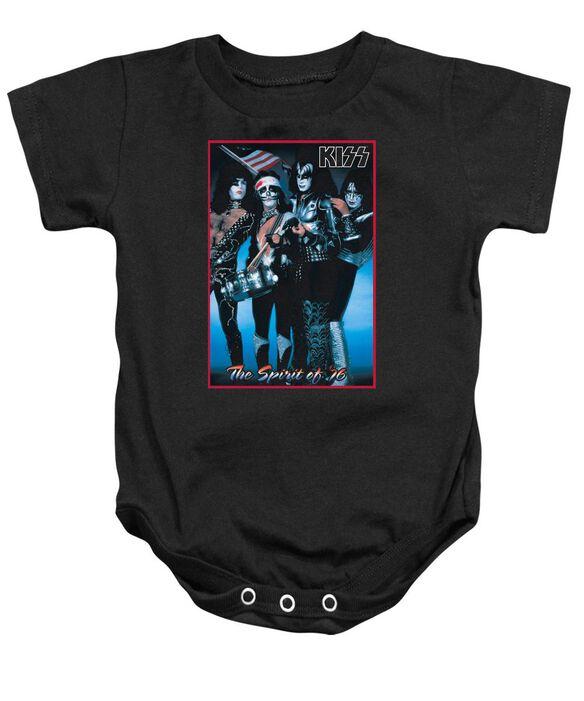 Kiss Spirit Of 76 Infant Snapsuit Black
