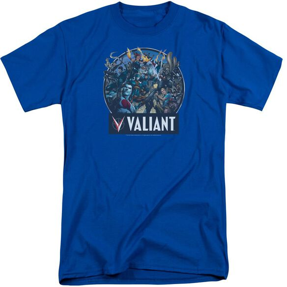 Valiant Ready For Action Short Sleeve Adult Tall Royal T-Shirt