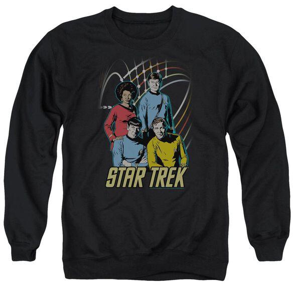 Star Trek Warp Factor 4 Adult Crewneck Sweatshirt