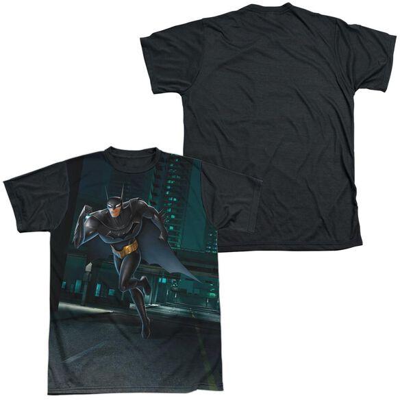 Beware The Batman Run Short Sleeve Adult Front Black Back T-Shirt
