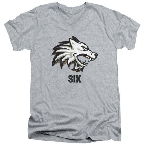 Six Wolf Short Sleeve Adult V Neck Athletic T-Shirt