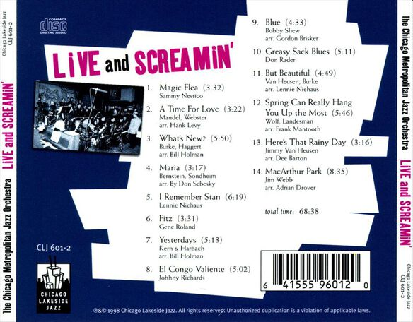 Live & Screamin (Cdr)