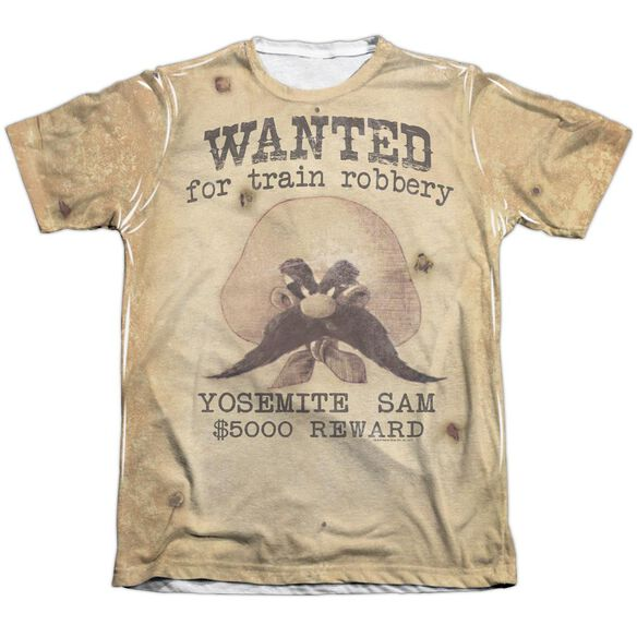 Looney Tunes Wanted Adult Poly Cotton Short Sleeve Tee T-Shirt
