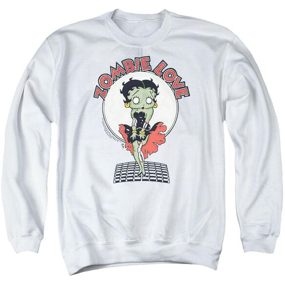 Betty Boop Breezy Zombie Love Adult Crewneck Sweatshirt