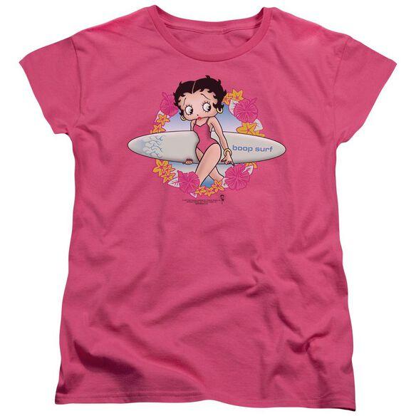 Betty Boop Surf Short Sleeve Womens Tee T-Shirt