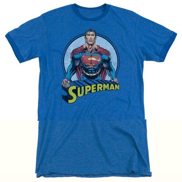 Superman Flying High Again - Adult Heather Ringer -