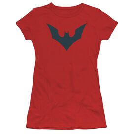 Batman Beyond Beyond Bat Logo Short Sleeve Junior Sheer T-Shirt