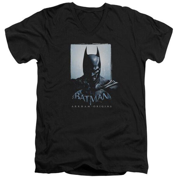 Batman Arkham Origins Two Sides Short Sleeve Adult V Neck T-Shirt