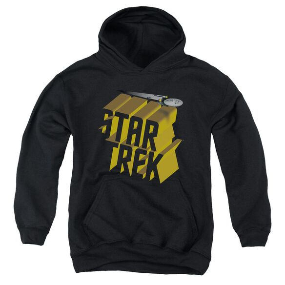 Star Trek 3 D Logo Youth Pull Over Hoodie