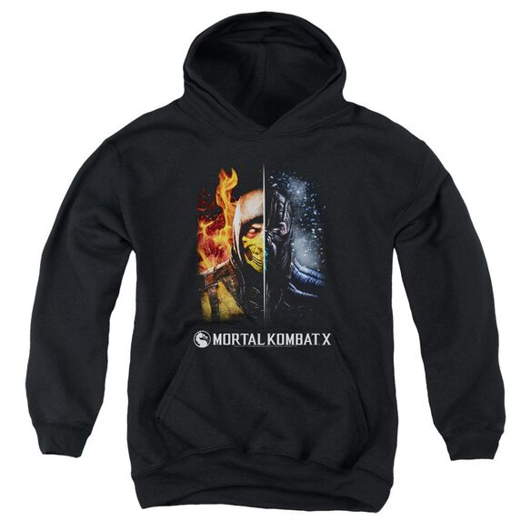 Mortal Kombat Fire And Ice Youth Pull Over Hoodie