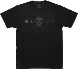 Magic The Gathering Black Mana Line T-Shirt