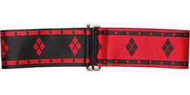 Harley Quinn Diamonds Stripes Cinch Waist Belt