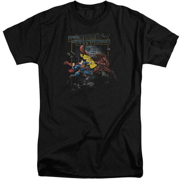 Superman Showdown Short Sleeve Adult Tall T-Shirt