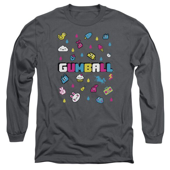 Amazing World Of Gumball Fun Drops Long Sleeve Adult T-Shirt